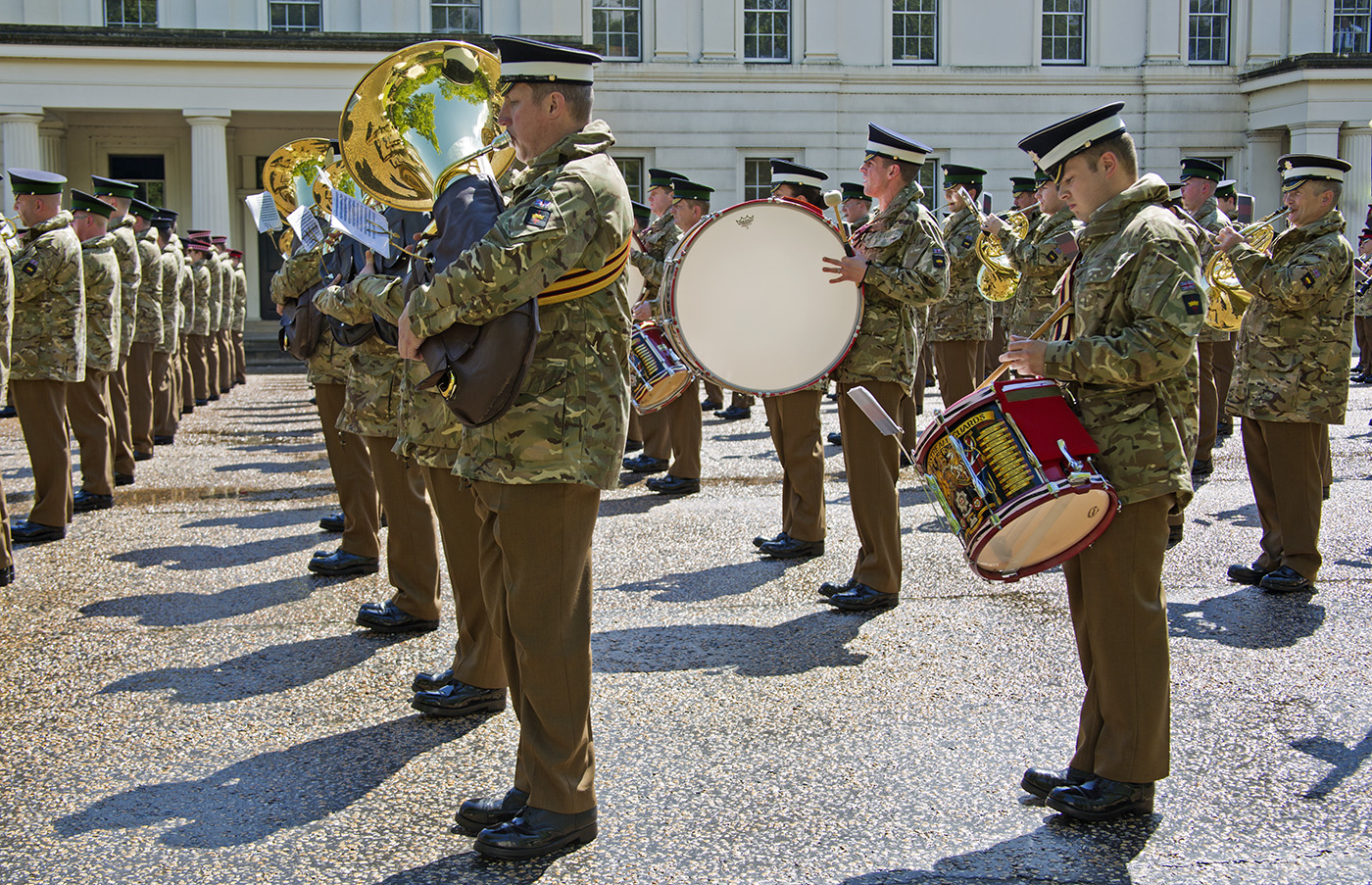 At Wellington Barracks