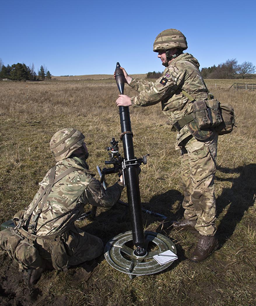 Loading mortar